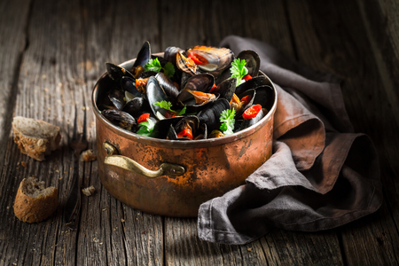Enjoy your mussels served with wholemeal bread