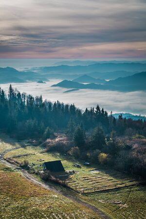 Stunning dusk in the Tatras in autumn 版權商用圖片