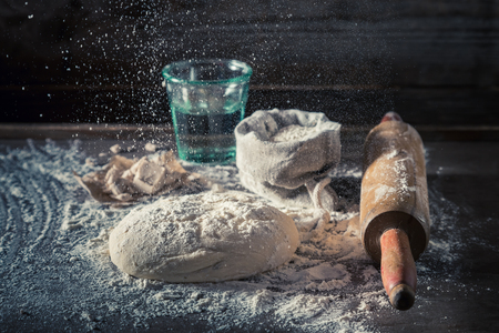 Preparation for baking traditionally and delicious dough for pizza