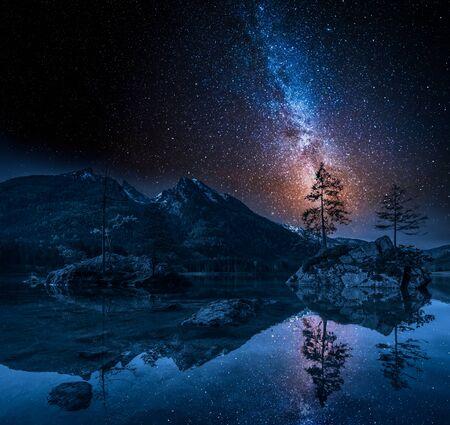 アルプスのヒンターゼー湖の天の川, ドイツ