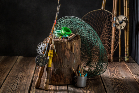 Equipment for fishing with fishing flies and rods