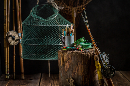 Equipment for fishing with flies, floats and rods
