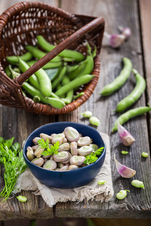 Enjoy your broad beans with garlic and parsley