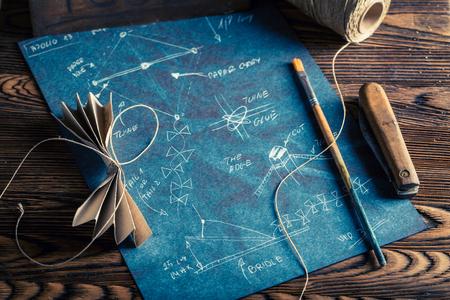 Vintage kite scheme and things to make it 版權商用圖片