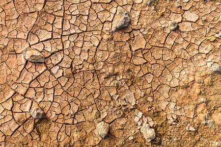 Dry and cracked ground as brown background