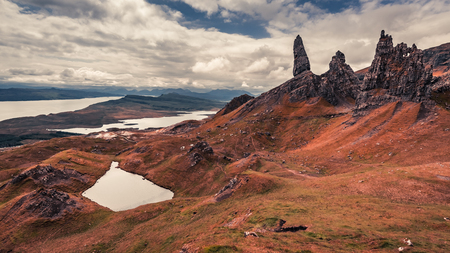 Old Man of Storr in rusty colors, Skye, Scotland