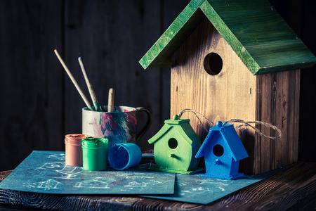 Home for birds and blue plan to build it