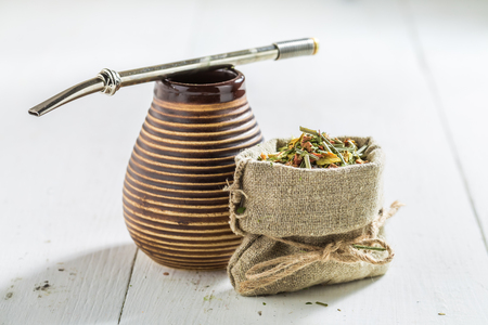 Healthy and fresh yerba mate made of fresh dried leaves