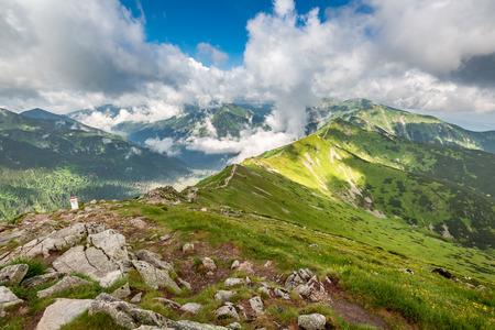 Beautiful Tatra mountain view from Kasprowy Wierch, Poland Stockfoto