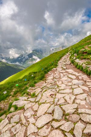 Breathtaking mountain trail in Kasprowy Wierch, Poland