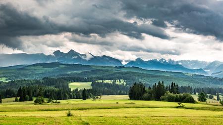Tatra Mountains after rain in summer, Poland