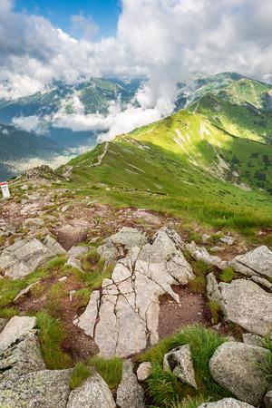Breathtaking view from Kasprowy Wierch in summer, Poland Stockfoto