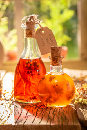 Strong quince tincture made of honey and linden