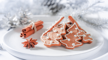 Tasty and aromatic gingerbread cookies for Christmas