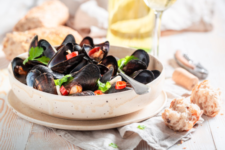 Enjoy your mussels served with tasty wholemeal bread