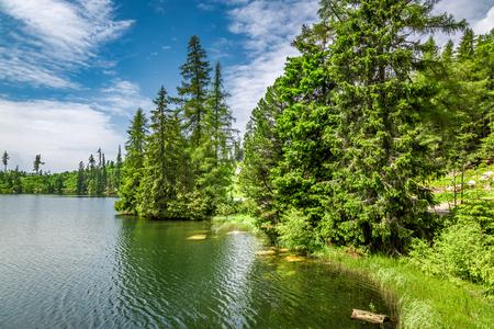 Strbske Pleso lake and theTatra mountains, Slovakia