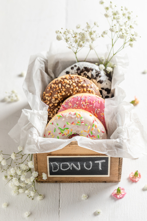Sweet and fresh donuts ready to eat