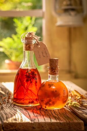 Homemade tincture made of linden and honey