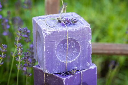 Ecological and handmade lavender soap good for skin
