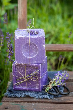 Aromatic and ecological lavender soap made of fresh ingredients