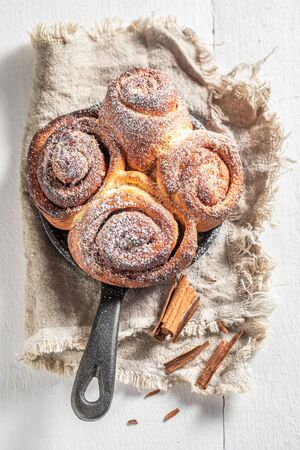 Enjoy your cinnamon buns as swedish christmas dessert.