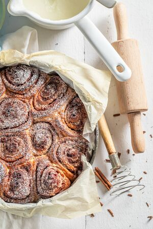 Enjoy your cinnamon buns made of butter and sugar