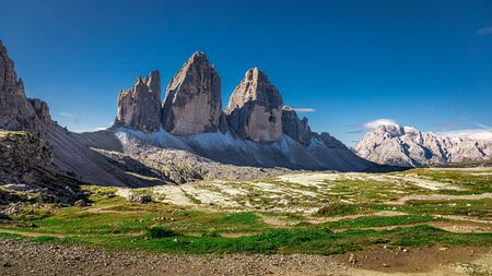 Stunning view of Tre Cime in Dolomites