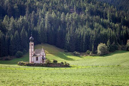 Church St. Johann in Ranui in Dolomites, Italy