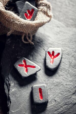 Old runestones omen based on antique scrolls