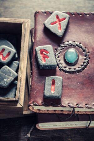 Unique runestones omen made of Celtic language