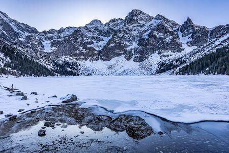 Wonderful Morskie Oko mountain lake in Poland