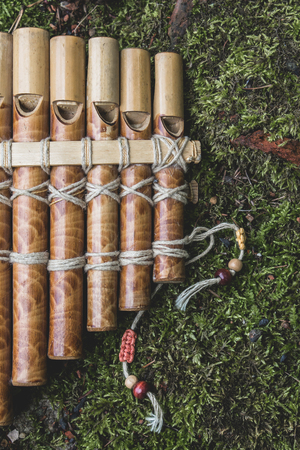 panpipe: Panflute on the grass