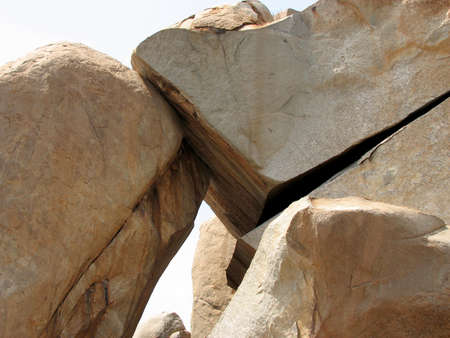 Big boulder stone lying on top of each other