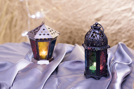 Lanterns for Ramadan Kareem Eid al-Fitr Mubarak
