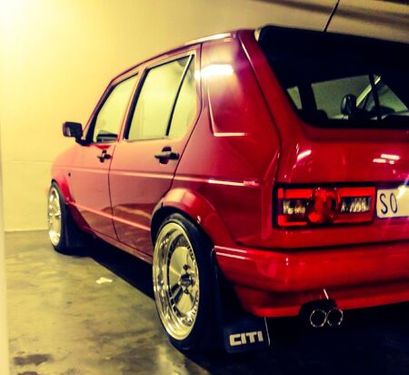 vw: SouthAfrican styled VW Golf Stock Photo