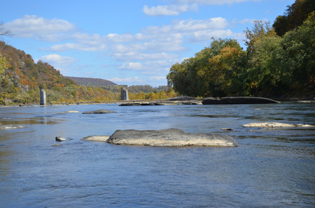Landscape showing river mountain sky rocks