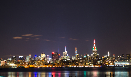 New York Sky Line at night Stock Photo