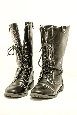 black isolated boots