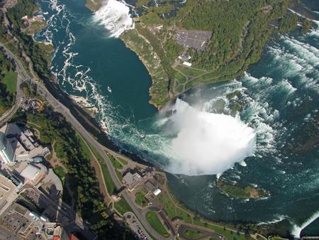 Vue aérienne des chutes du Niagara