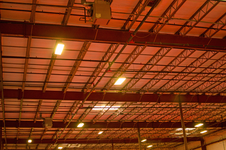 Industrial ceiling with steel beams