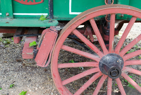 wheel with braking bloc