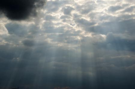 Sun light coming through clouds