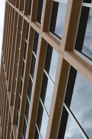 Front of a building vertical angle Banco de Imagens
