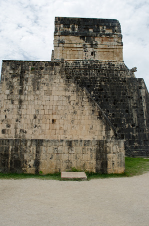 Ruins at Chichen Itza Site. Pyramid, travel