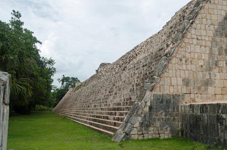 Ruins at Chichen Itza Site. Pyramid, state