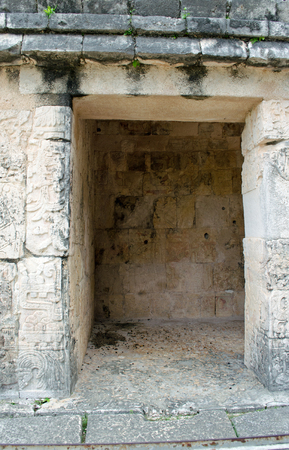 Ruins at Chichen Itza Site. Pyramid, state