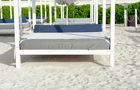 Day time bed at beach. Sunny, travel Stock fotó
