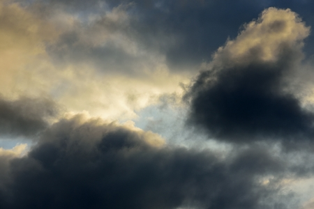 Clouds in sky with dark and orange color Standard-Bild - 110685762