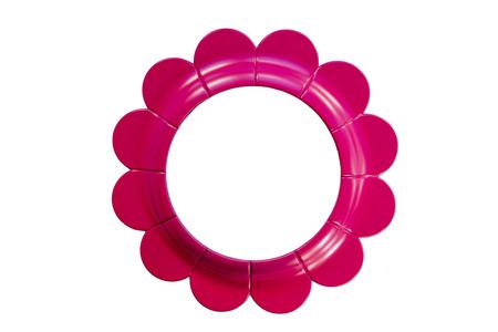 Pink circular flower frame
