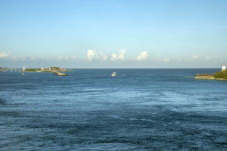 boat near the sea shore Stock Photo